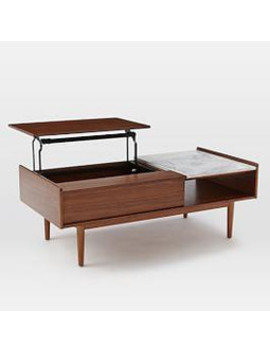 Coffee Table With Pop Up Top.Mid Century Pop Up Storage Coffee Table