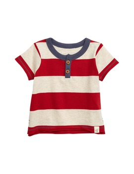 rugby-stripe-organic-cotton-henley-t-shirt by burts-bees-baby
