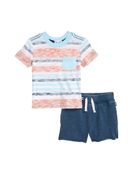 Stripe T Shirt & Knit Shorts Set by Splendid
