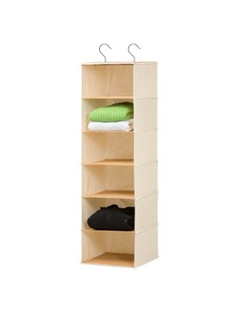 Honey Can Do 6 Shelf Hanging Bamboo Organizer by Can