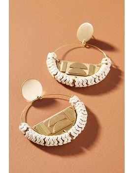 David Aubrey Colette Hooped Post Earrings by David Aubrey
