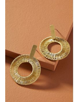 Wrapped Hooped Post Earrings by Anthropologie