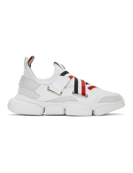 White Bakary Sneakers by Moncler