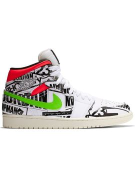 0f7932c3 Shoptagr | Jordan 1 Mid All Over Logos by Stock X