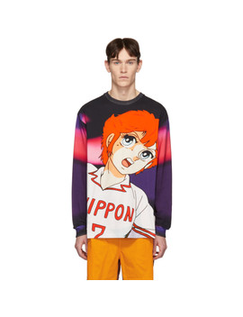 Multicolor Mila Print Long Sleeve T Shirt by Msgm
