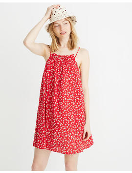 Ruffle Neck Cover Up Mini Dress In Daisy Field by Madewell
