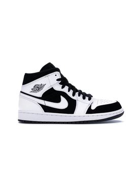 453da184 Shoptagr | Jordan 1 Mid White Black by Stock X
