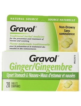 Certified Organic Ginger Gravol Natural Source (20 Tablets) Antinauseant For Nausea, Vomiting & Motion Sickness Ages 6 And Up by Gravol