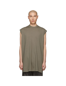 Taupe Tarp T Shirt by Rick Owens