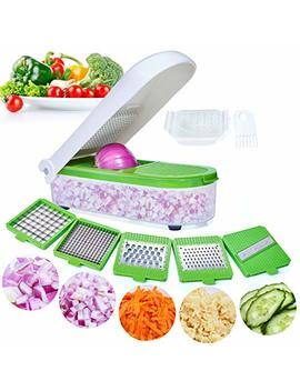 Vegetable Chopper,Pro Onion Chopper Slicer Dicer Cutter   Cheese & Veggie Chopper   Food Chopper Dicer With 5 Blades by Lhs