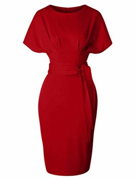 Gown Town Women's 50s 60s Vintage Sexy Fitted Office Pencil Dress by Gown Town