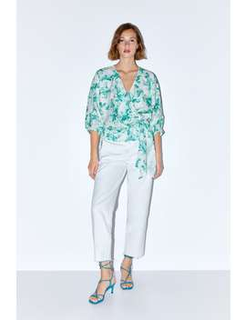Floral Print Rustic Top New Inwoman by Zara