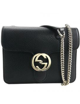 4132b2de3bf2 Shoptagr | Soho New Medium Borsa Chain Black Leather Cross Body Bag ...