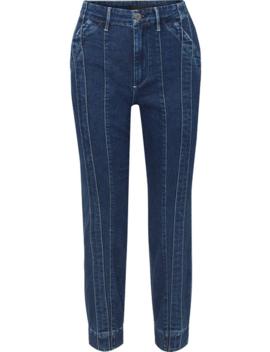 + Jason Wu Paneled High Rise Slim Leg Jeans by 3x1
