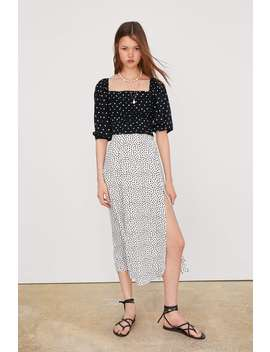 Draped Polka Dot Top New Intrf by Zara