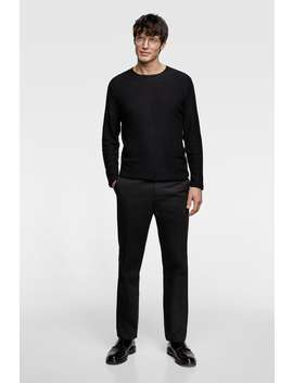 Textured Knit Sweater Sweaters Knitwear Man by Zara