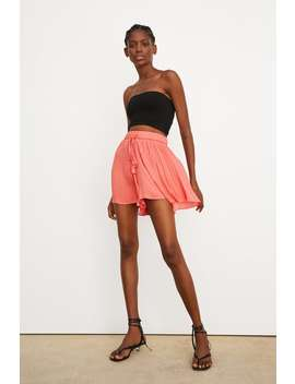 Pleated Shorts New Intrf by Zara