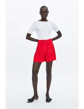 Flowy Buttoned Shorts Formal Shorts Woman by Zara