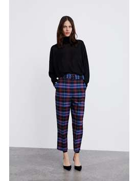 Check Trousers With Belt Check! Check! Check!Woman by Zara