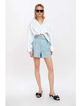 Belted Mom Fit Shorts Formal Shorts Woman by Zara