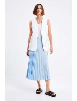 Vest With Pockets Formal Shorts Woman by Zara