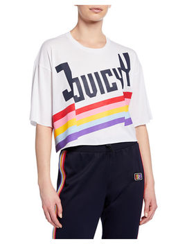 Cropped Rainbow Logo T Shirt by Juicy Couture