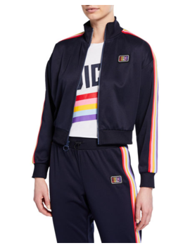 Rainbow Striped Track Jacket by Juicy Couture