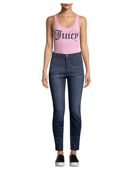 Scoop Neck Logo Bodysuit by Juicy Couture