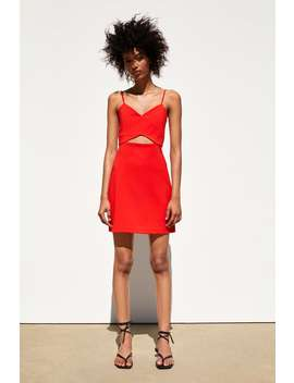 Dress With Cut Outs Dressestrf by Zara