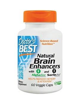 Doctor's Best Natural Brain Enhancers, Non Gmo, Vegan, Gluten Free, 60 Veggie Caps by Doctor's Best