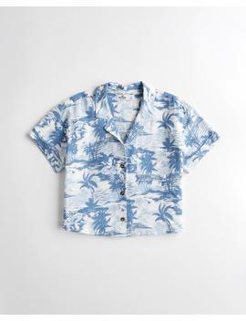 crop-camp-shirt by hollister
