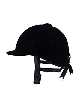 Unistrengh Equestrian Hat Helmet Black Velvet Comfy Horse Riding Hats Breathable Horse Riding Helmets For Womnes,Girls,Toddlers by Unistrengh