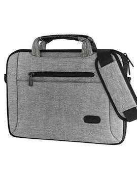 "Pro Case 11 12 Inch Laptop Bag Messenger Shoulder Bag Briefcase Sleeve Case For 12"" Mac Book Surface Pro 2017 / Pro 6 4 3, 11 12 Inch Laptop Ultrabook Tablet Notebook Mac Book Chromebook Computer  Grey by Pro Case"