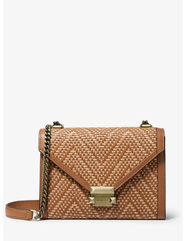Whitney Large Woven Leather Convertible Shoulder Bag by Michael Michael Kors