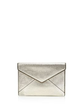 Leo Crackle Leather Clutch by Rebecca Minkoff