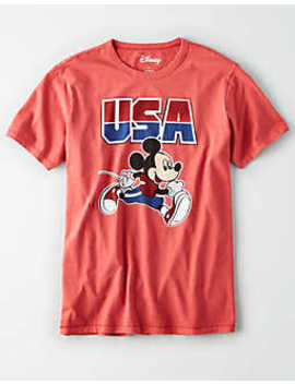 Ae Usa Mickey Mouse Graphic T Shirt by American Eagle Outfitters