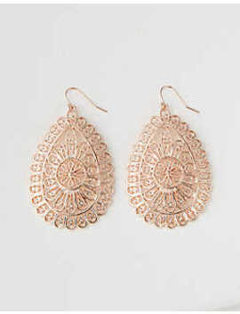 Ae Rose Gold Teardrop Earring by American Eagle Outfitters