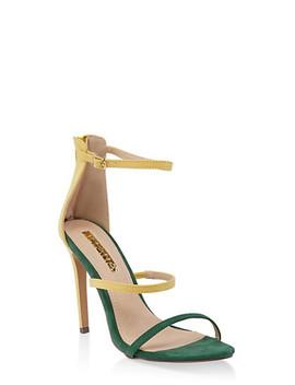 Triple Skinny Strap High Heel Sandals by Rainbow