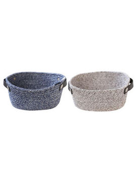Cotton Rope Basket Woven Storage Bins Organizer Baskets For Toys Laundry by Unbranded