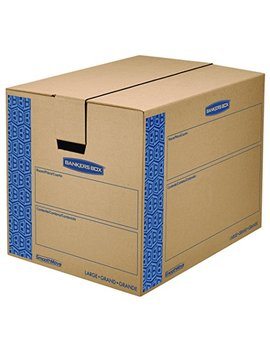 Bankers Box 0062901 Smooth Move Prime Moving Boxes, Large (Pack Of 6) by Bankers Box