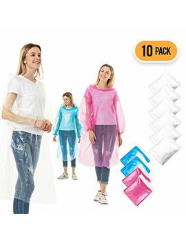 Rain Ponchos For Adults Disposable   10 Pack Bulk Extra Thick Emergency Waterproof Rain Poncho With Drawstring Hood Raincoat For Men Women Plastic Clear Rain Gear For Disney Hiking Travel Concerts by Cero Pro