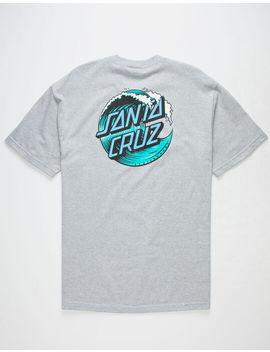 Santa Cruz Wave Dot Heather Mens T Shirt by Santa Cruz