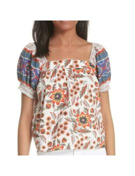 Joie Cleona Cotton Floral Top Size M by Joie