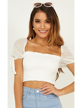 0f7804ce41c Next Vacay Top In White by Showpo Fashion