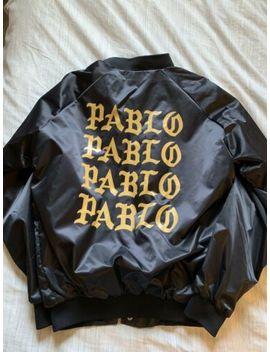 Mens Kanye Yeezy Tlop The Life Of Pablo Concert Bomber Jacket Black Gold Medium by Kanye Pablo