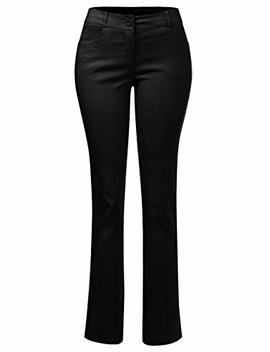 Instar Mode Women's Classic Stretchy Dress Pants Boot Cut/Skinny by Instar Mode