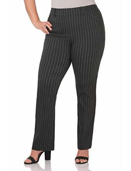 Rekucci Curvy Woman Ease In To Comfort Fit Barely Bootcut Plus Size Pant by Rekucci