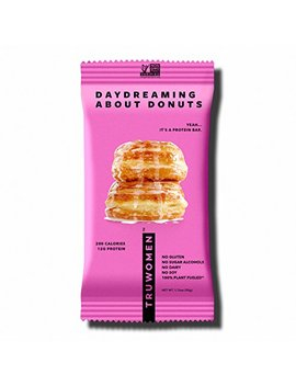 Truwomen Plant Fueled Protein Bars, Daydreaming About Donuts, Single Count (50g) | Non Gmo, Vegan, Gluten Free, Kosher, Soy Free, Dairy Free,... by Truwomen