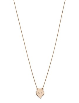 Mini Wolf On Chain Necklace by Ginette Ny
