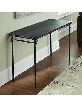 """Cosco 20"""" X 48"""" Vinyl Top Folding Table, Black, 1 Pack by Cosco Products"""